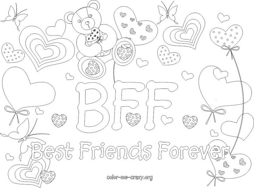 Free Bff Coloring Pages To Print For Kids. Description From - Free Printable Bff Coloring Pages