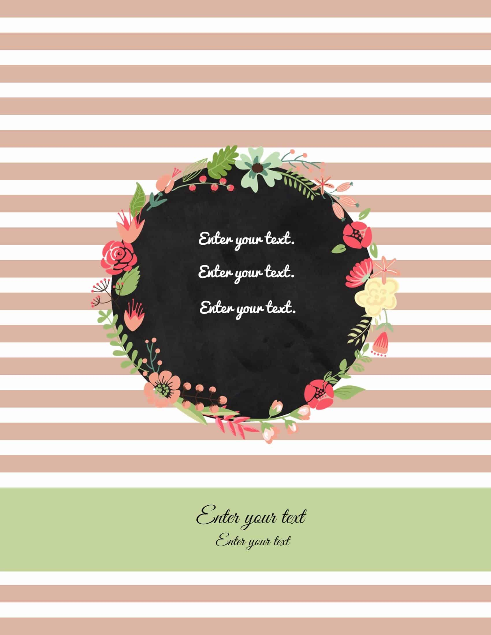 Free Binder Cover Templates   Customize Online & Print At Home   Free! - Cute Free Printable Binder Covers