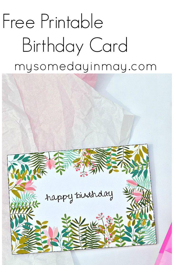 Free Birthday Card | Birthday Ideas | Free Printable Birthday Cards - Free Printable Birthday Cards For Adults