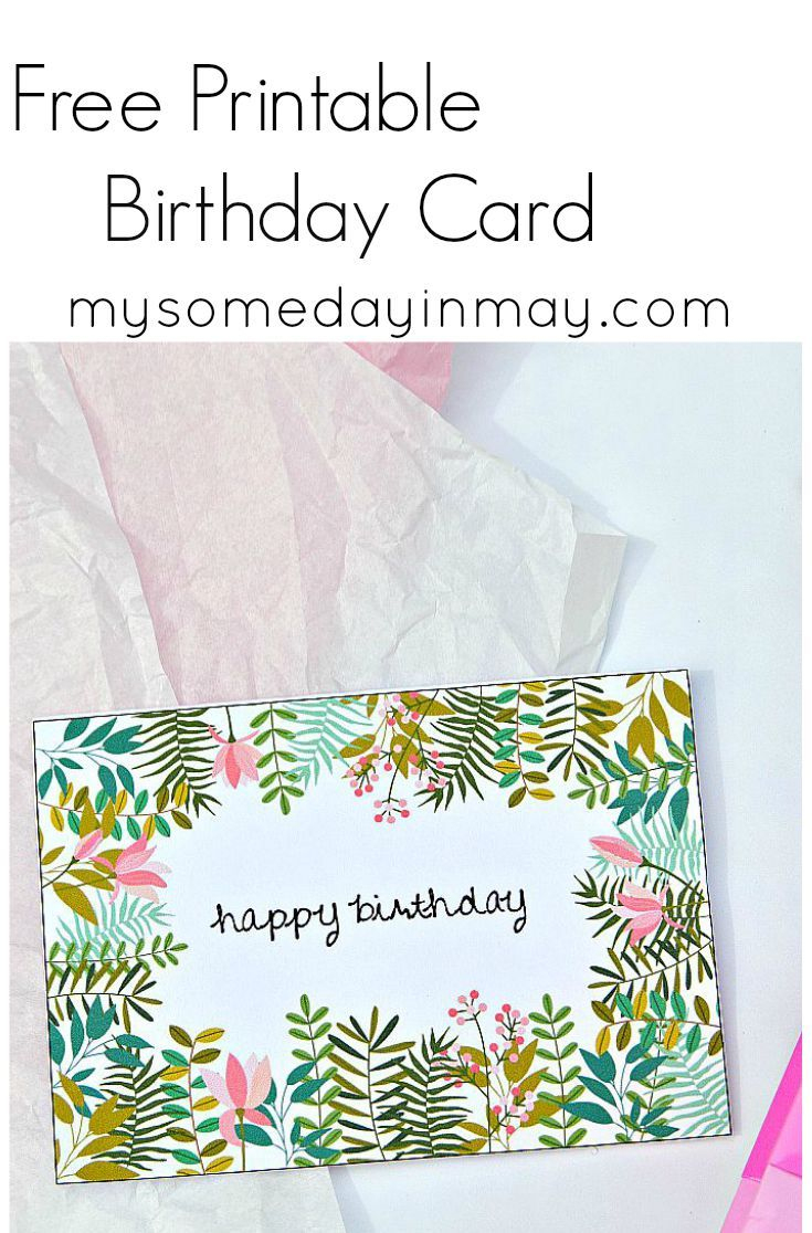Free Birthday Card | Free Printable Birthday Cards, Printable - Free Printable Birthday Cards For Mom