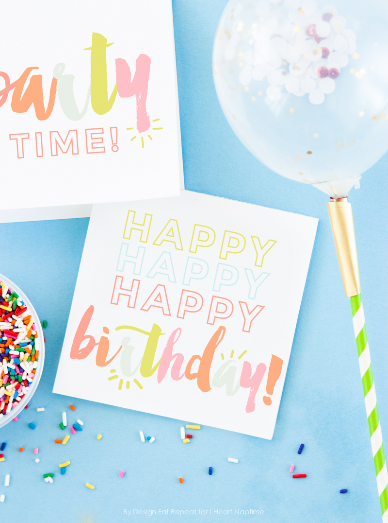 Free Birthday Printables - Eighteen25 - Free Printable Birthday Tags