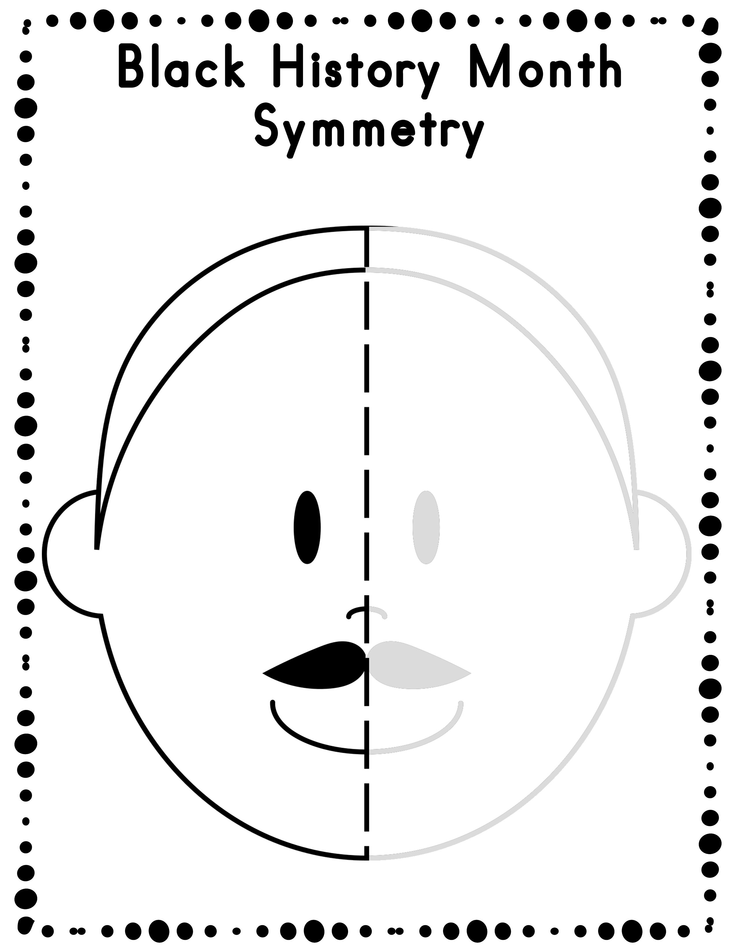 Free Black History Month Symmetry Activity Worksheets   Freebies For - Free Printable Black History Month Word Search