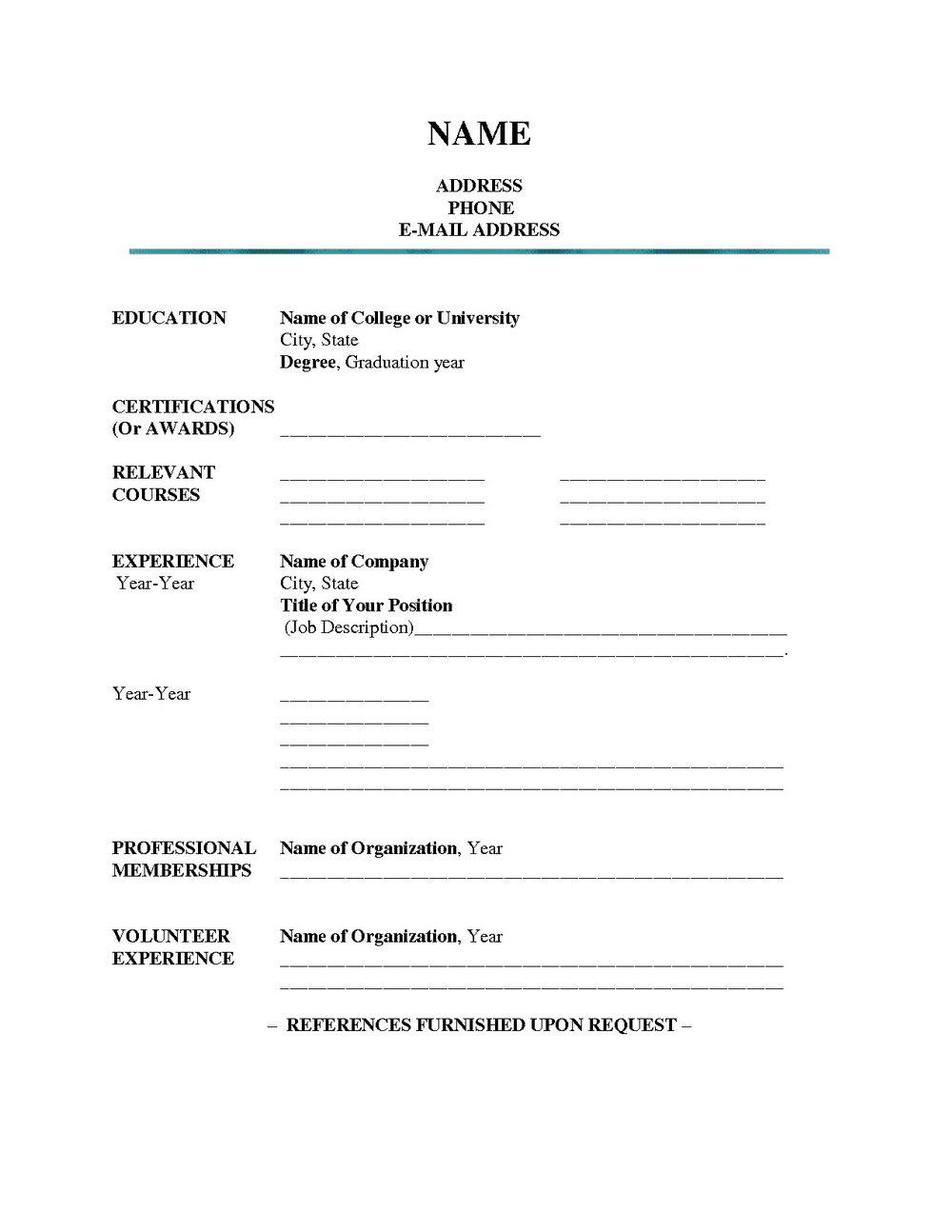 Free Blank Resume Form Printable | Mbm Legal - Free Blank Resume Forms Printable