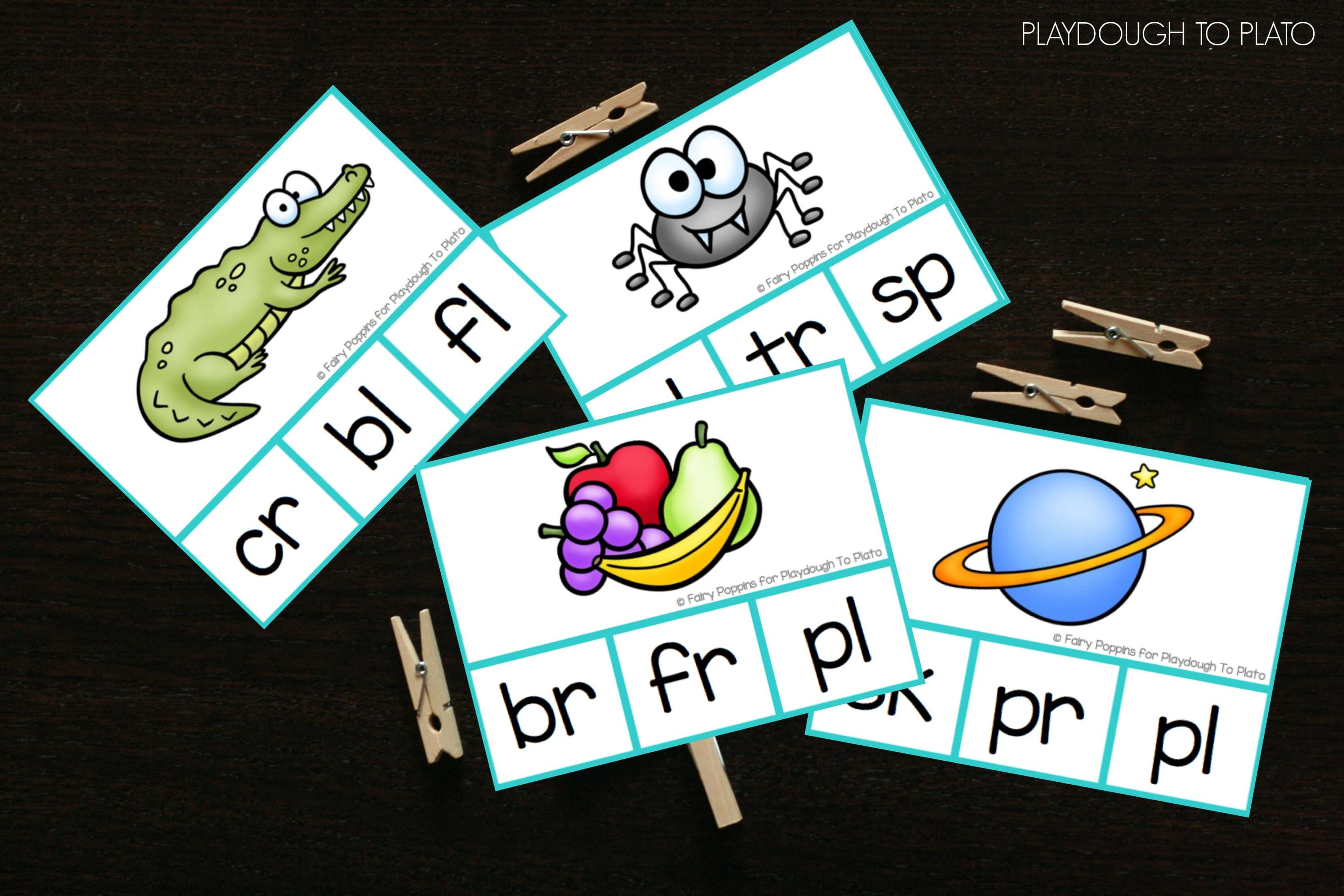 Free Blends Cards And Dice - Playdough To Plato - Free Printable Blending Cards