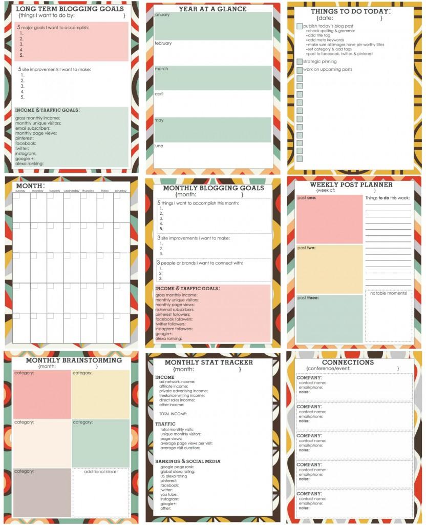 Free Blog Planner | Printables & Fonts | Pinterest | Blog Planner - Free Printable Blog Planner