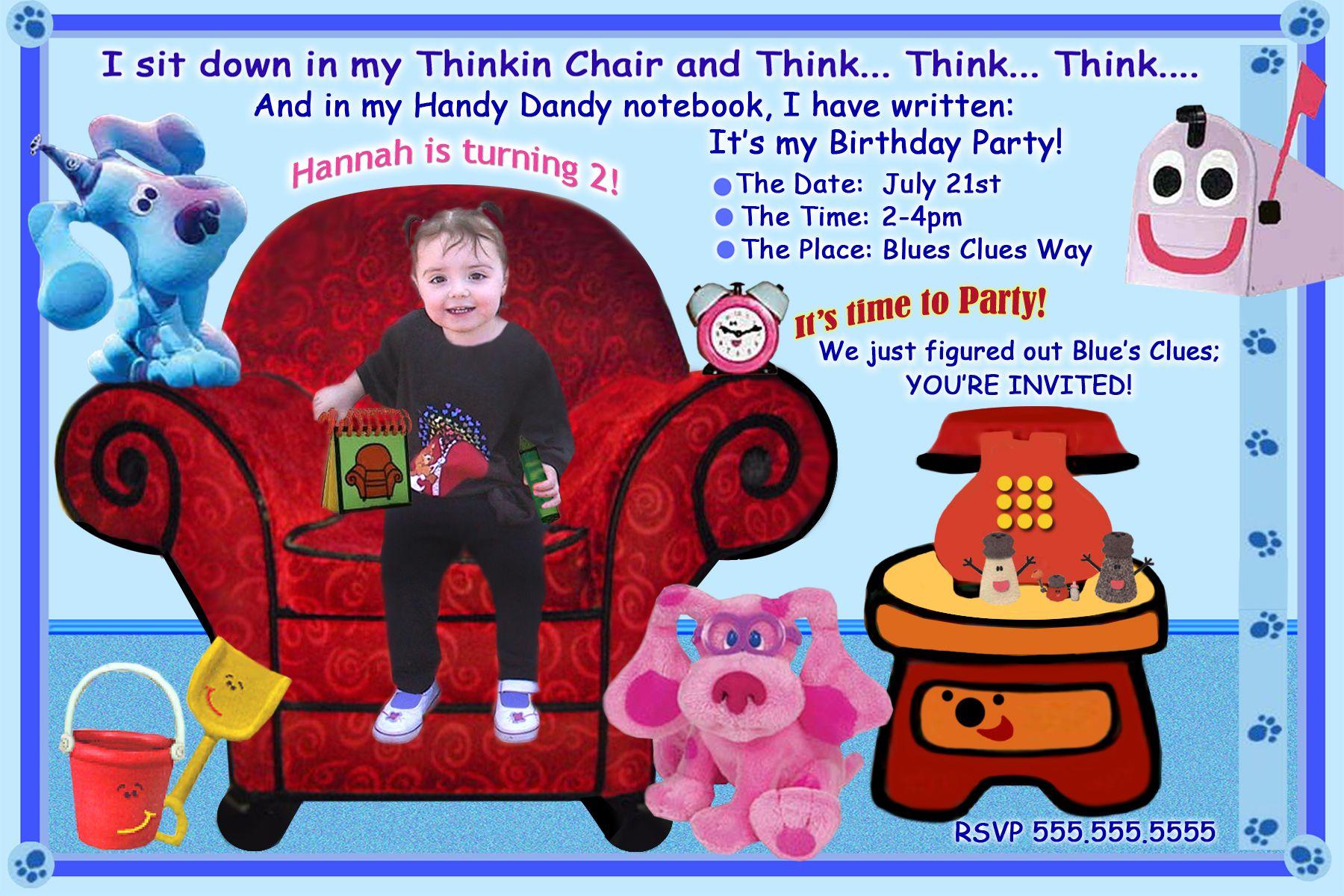 Free Blues Clues Birthday Invitations Ideas   Bagvania Invitation - Blue's Clues Invitations Free Printable
