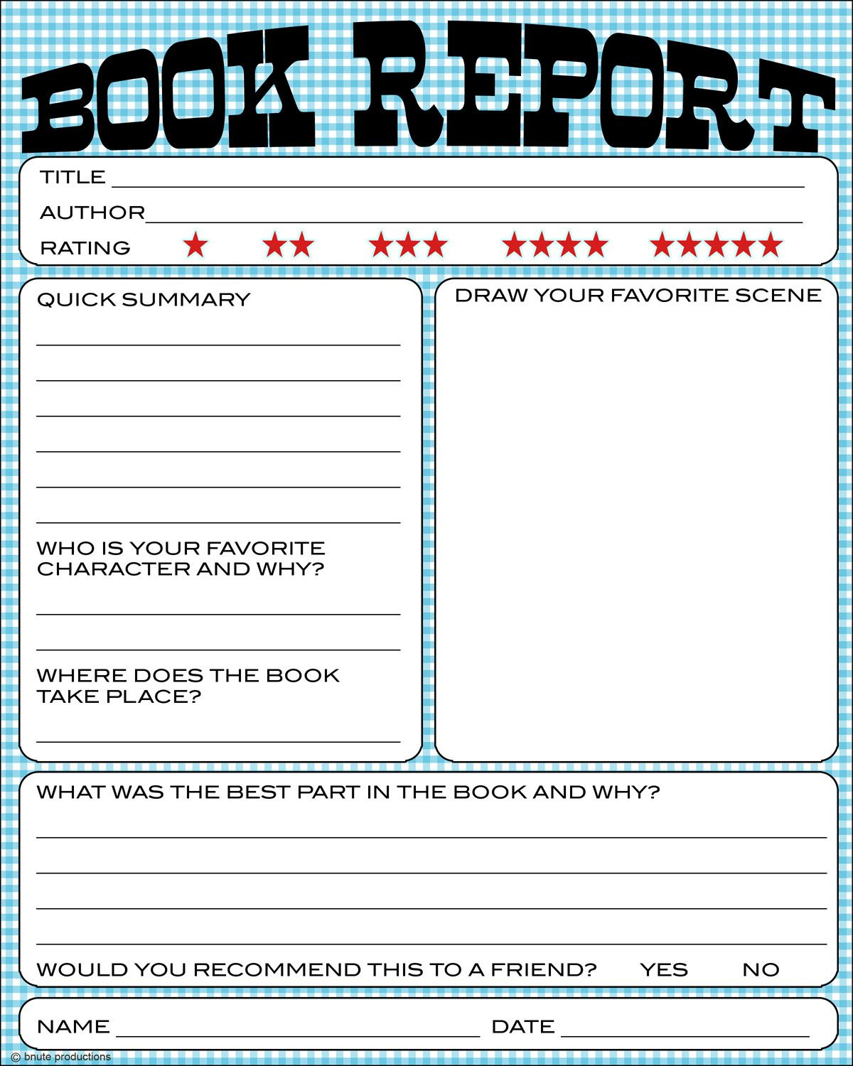 Free Book Report Printable - Great For Lower Primary Grades. It Also - Free Printable Book Report Forms For Elementary Students
