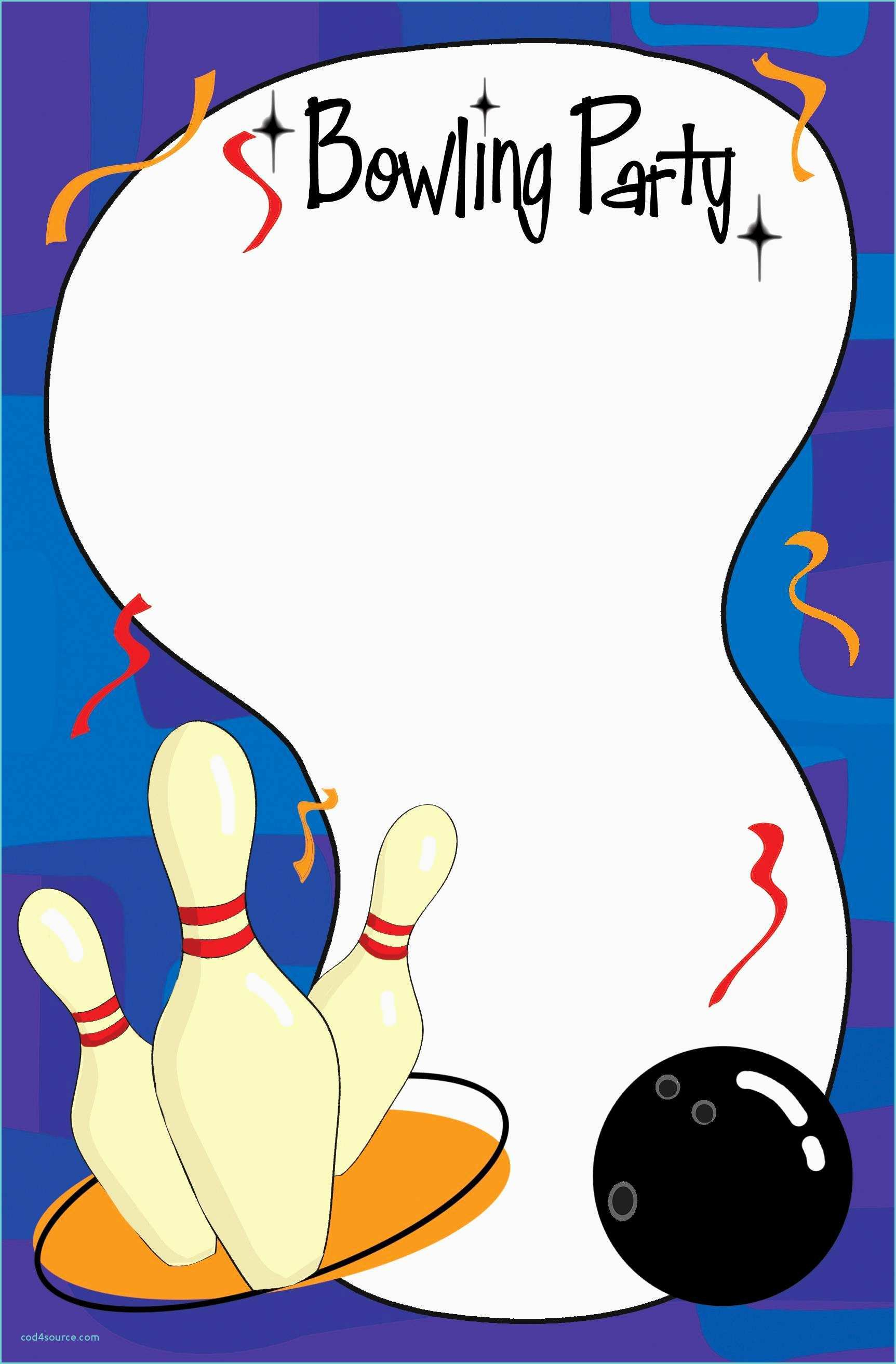 Free Bowling Party Invitation Template Word - Free Printable Bowling Invitation Templates