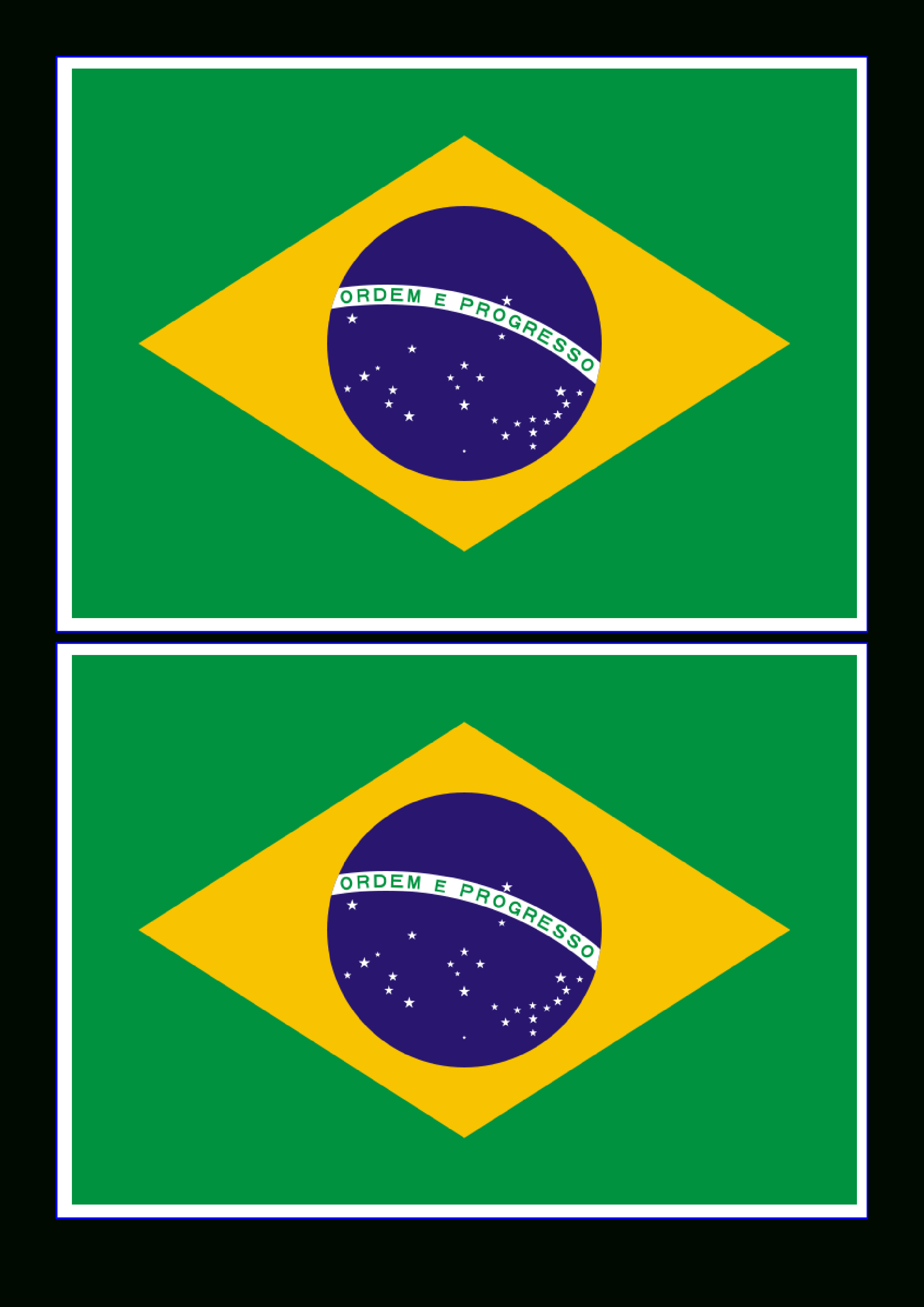 Free Brazil Flag | Templates At Allbusinesstemplates - Free Printable Brazil Flag