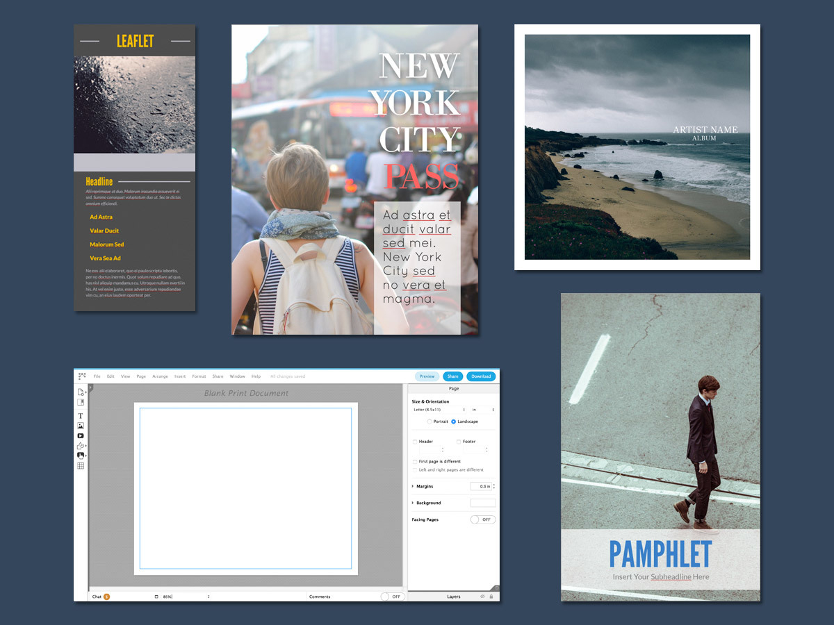 Free Brochure Maker - Create Custom Brochures | Lucidpress - Free Printable Brochure Maker Download