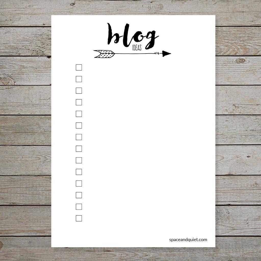 Free Bullet Journal Printable Blog Planner Layouts - Instant Download - Free Printable Blog Planner