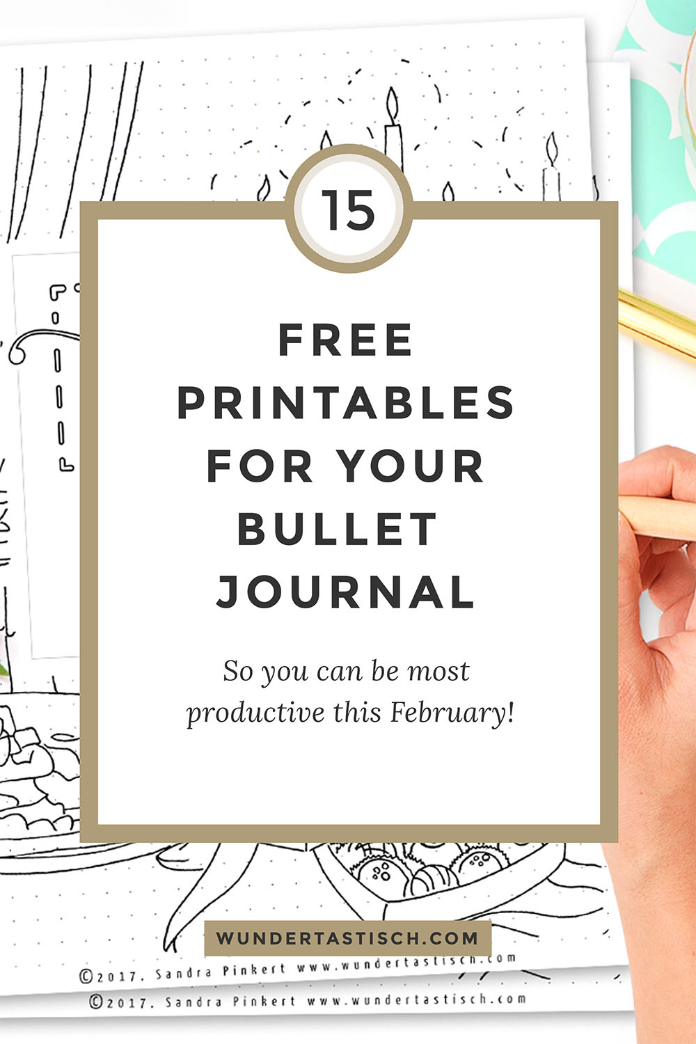 Free Bullet Journal Printables February 2017 - Wundertastisch - Free Printable Journal Pages