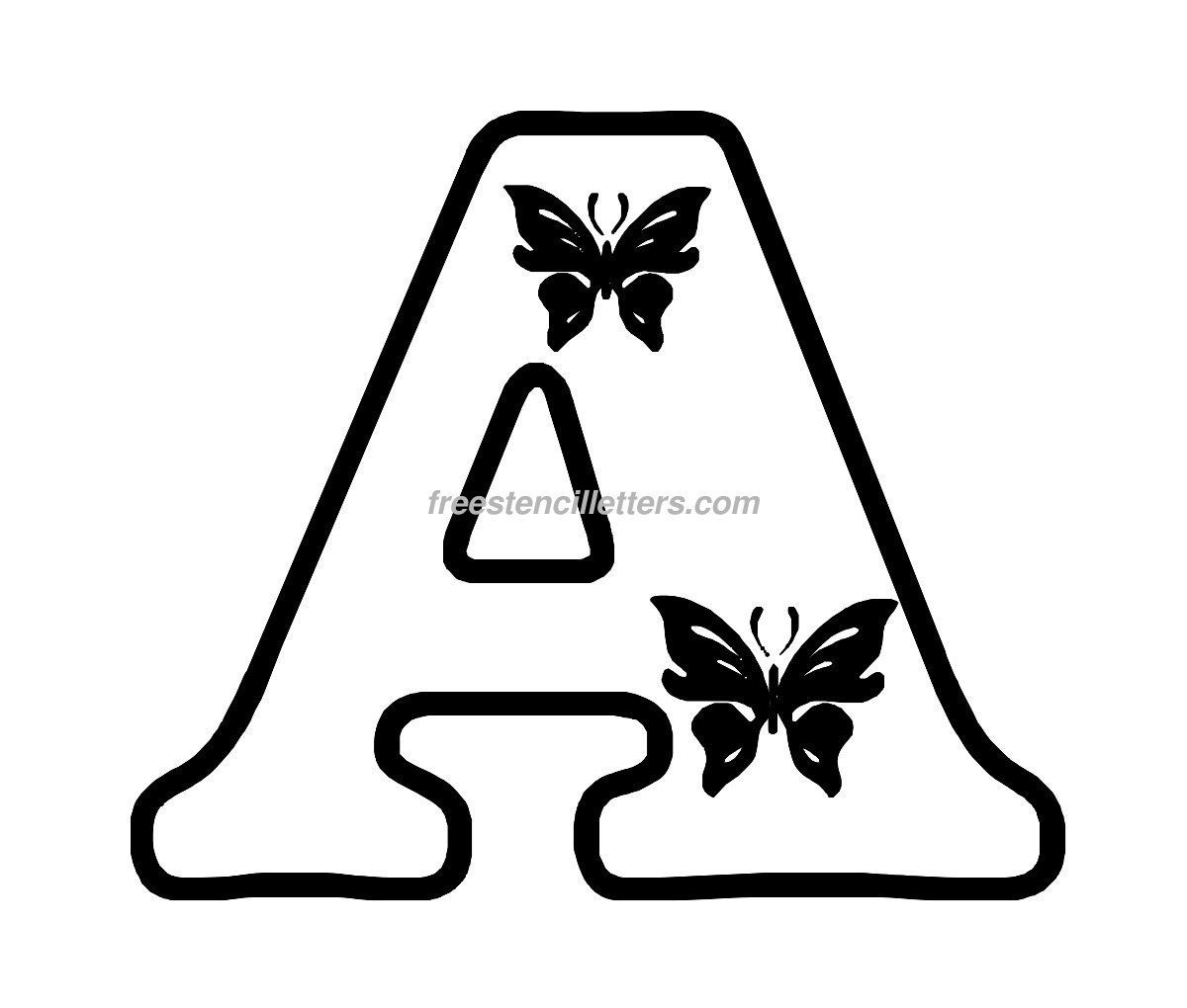 Free Butterfly Stencils To Print   Print A Letter Stencil   A - Free Printable Alphabet Stencils To Cut Out