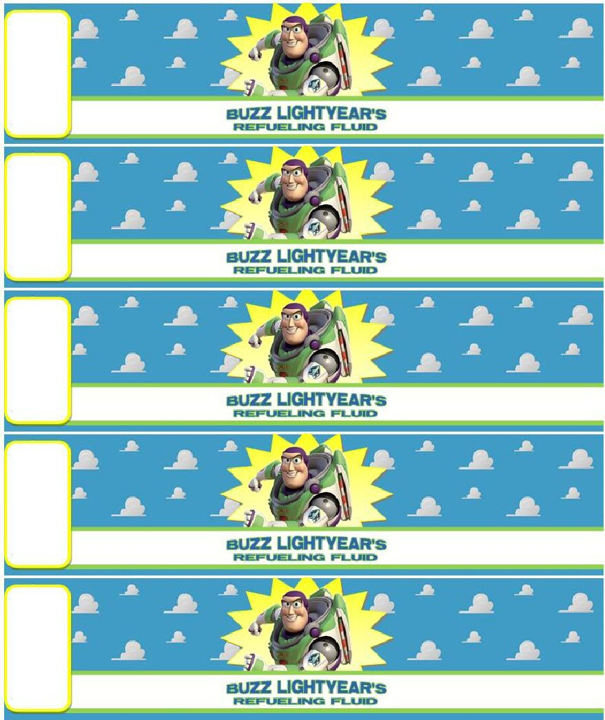 Free Buzz Lightyear's Refueling Fluid Printable (Non Commercial Use - Free Printable Toy Story Water Bottle Labels
