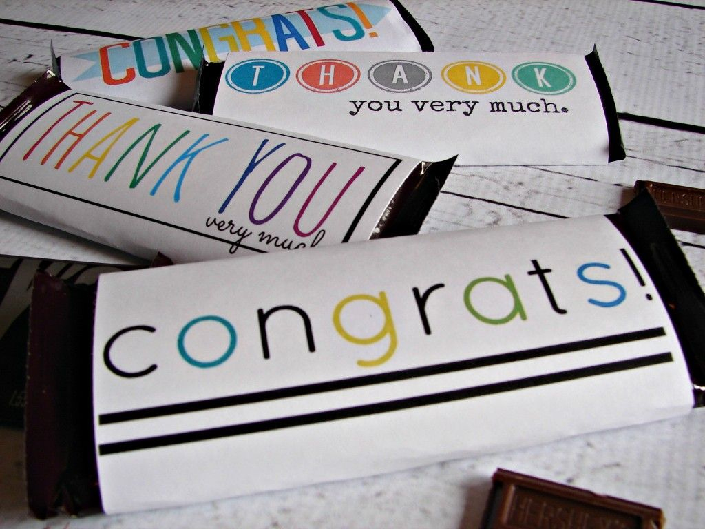 Free Candy Bar Wrapper Thank You (And Congrats) Printables | Just My - Free Candy Wrapper Printable