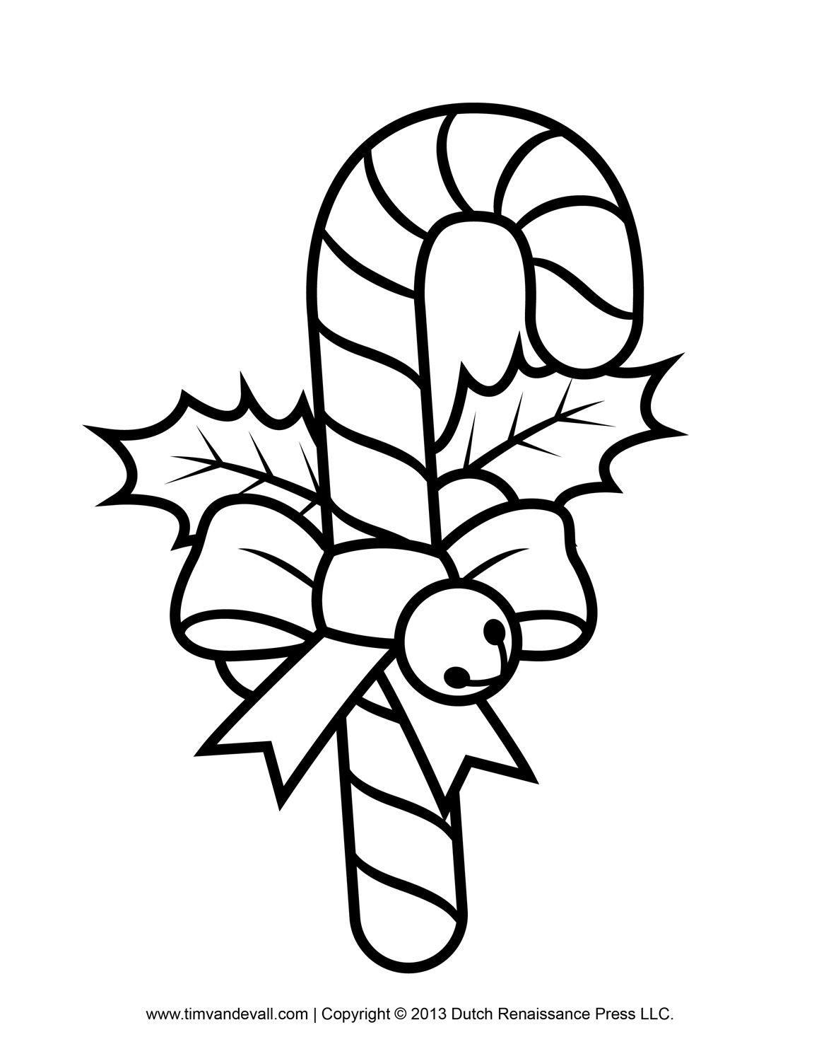 Free Candy Cane Template Printables, Crafts, Clipart & Decorations - Free Candy Cane Template Printable