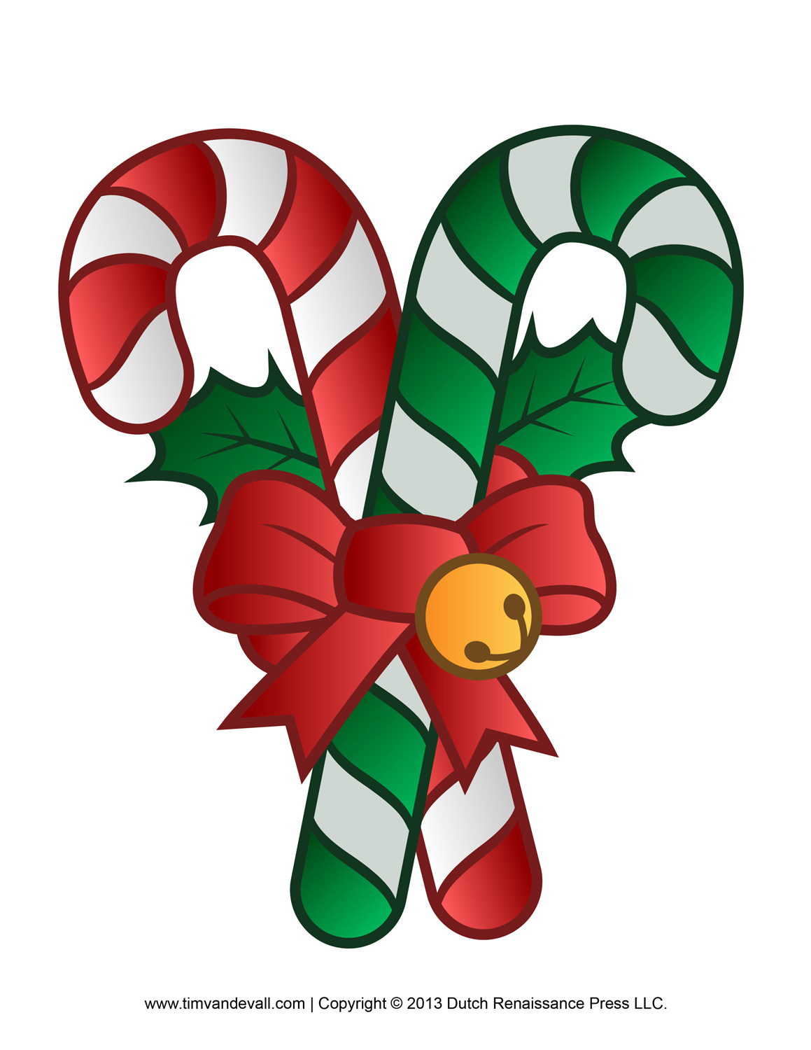 Free Candy Cane Template Printables Crafts & Decorations Clipart - Free Candy Cane Template Printable