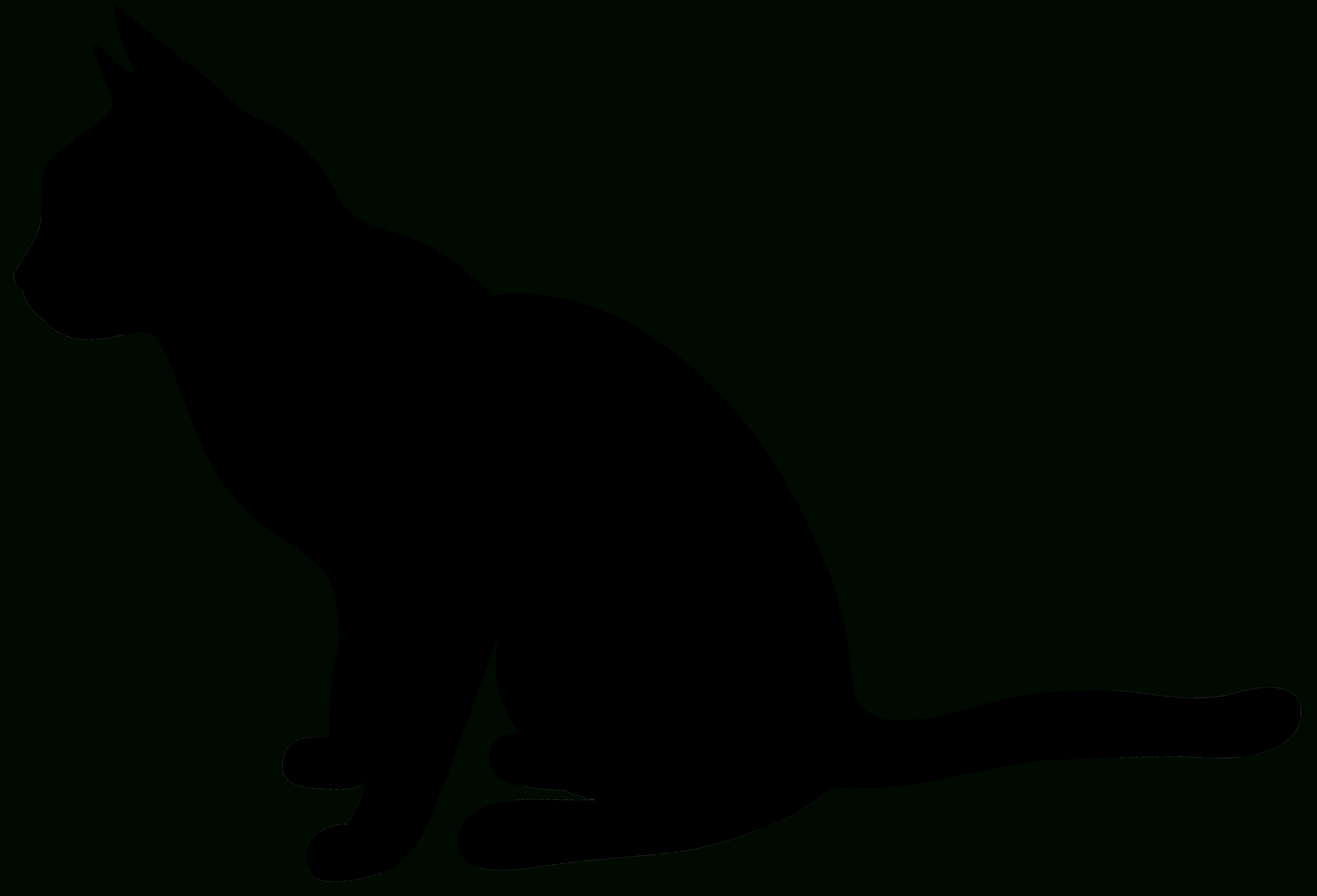 Free Cat Silhouette Cliparts, Download Free Clip Art, Free Clip Art - Free Printable Cat Silhouette