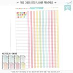 Free Checklists Planner Page Printables | Misstiina   Free Printable Checklist