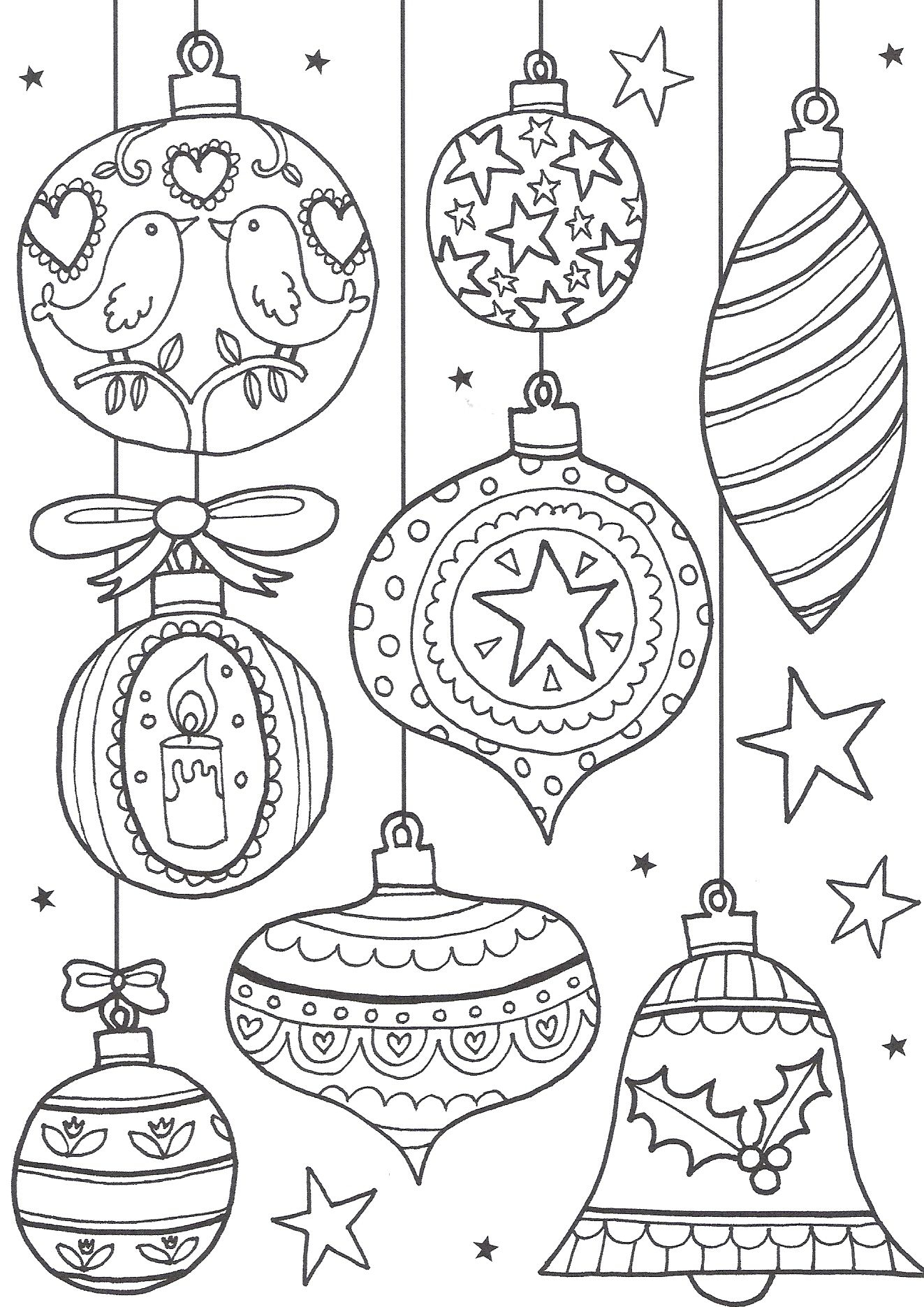 Free Christmas Colouring Pages For Adults – The Ultimate Roundup - Free Printable Christmas Ornaments Stencils