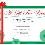 Free Christmas Gift Certificate Templates | Ideas For The House   Free Printable Gift Certificates