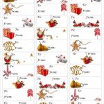 Free Christmas Gift Tag Printable ~ Print Either On Card Stock & Cut   Free Printable Holiday Gift Labels