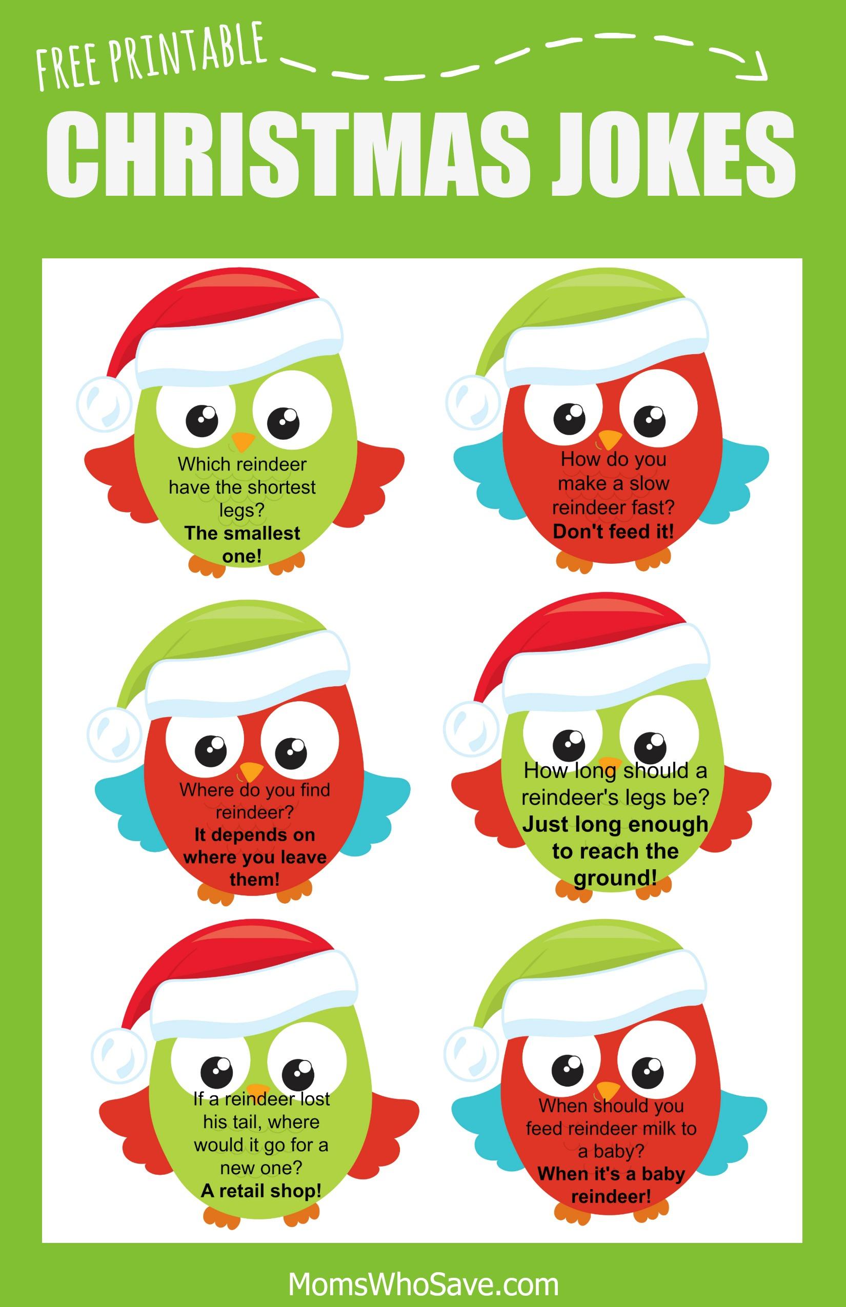 Free Christmas Lunch Box Jokes Printable | Momswhosave - Free Printable Jokes For Adults