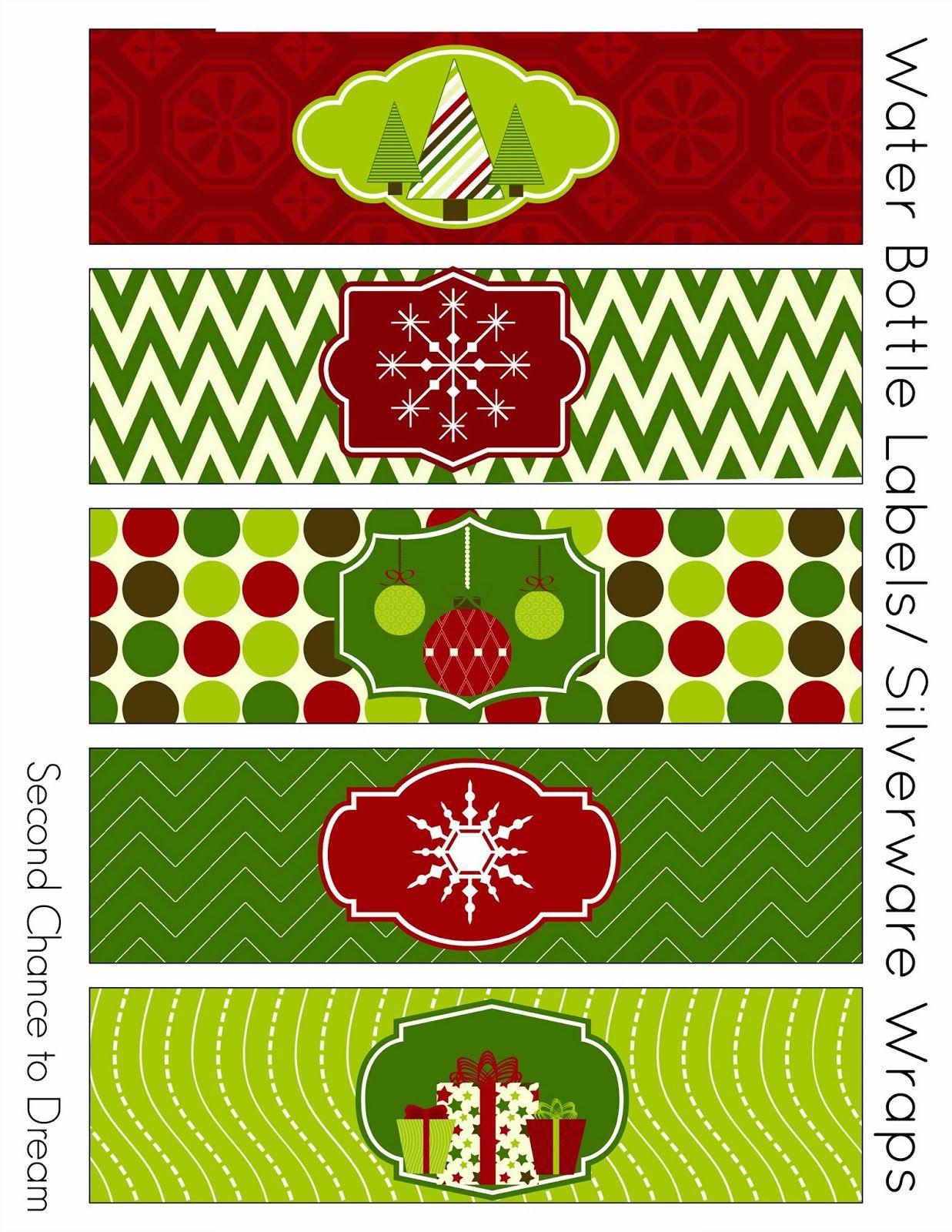 Free Christmas Party Printables | Tis The Season. | Christmas Labels - Christmas Water Bottle Labels Free Printable