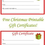 Free Christmas Printable Gift Certificates | Gift Ideas | Pinterest   Free Printable Gift Certificates