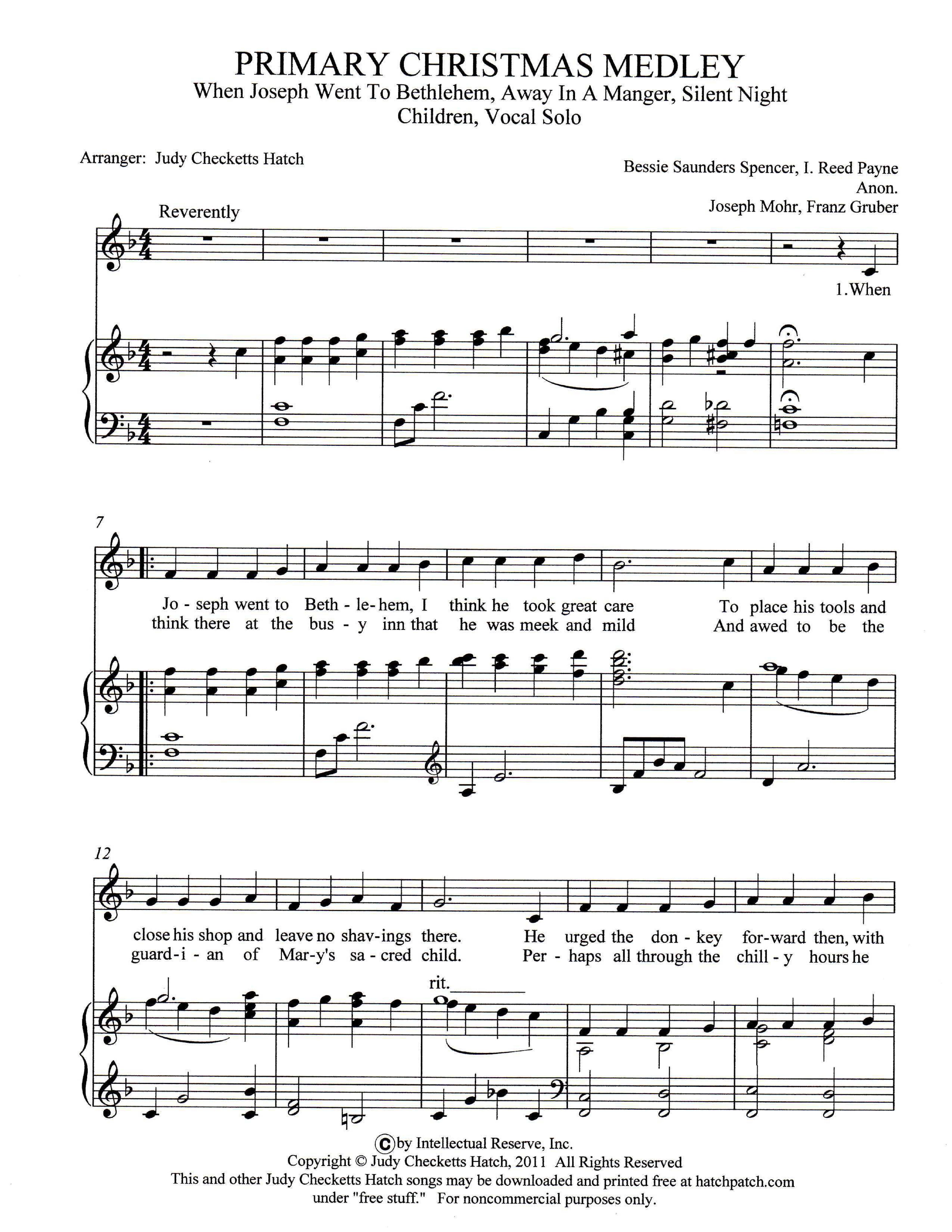 Free Christmas Sheet Music For Keyboard Printable – Festival Collections - Free Christmas Sheet Music For Keyboard Printable