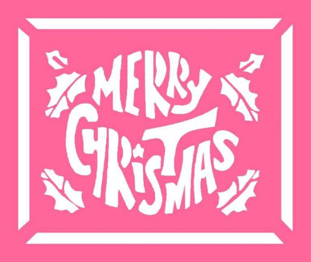 Free Christmas Stencils - Advent Craft Ideas For Children To Cut-Out - Merry Christmas Stencil Free Printable