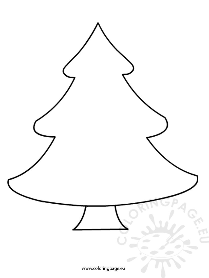 Free Christmas Tree Template – Coloring Page - Free Printable Christmas Tree Template
