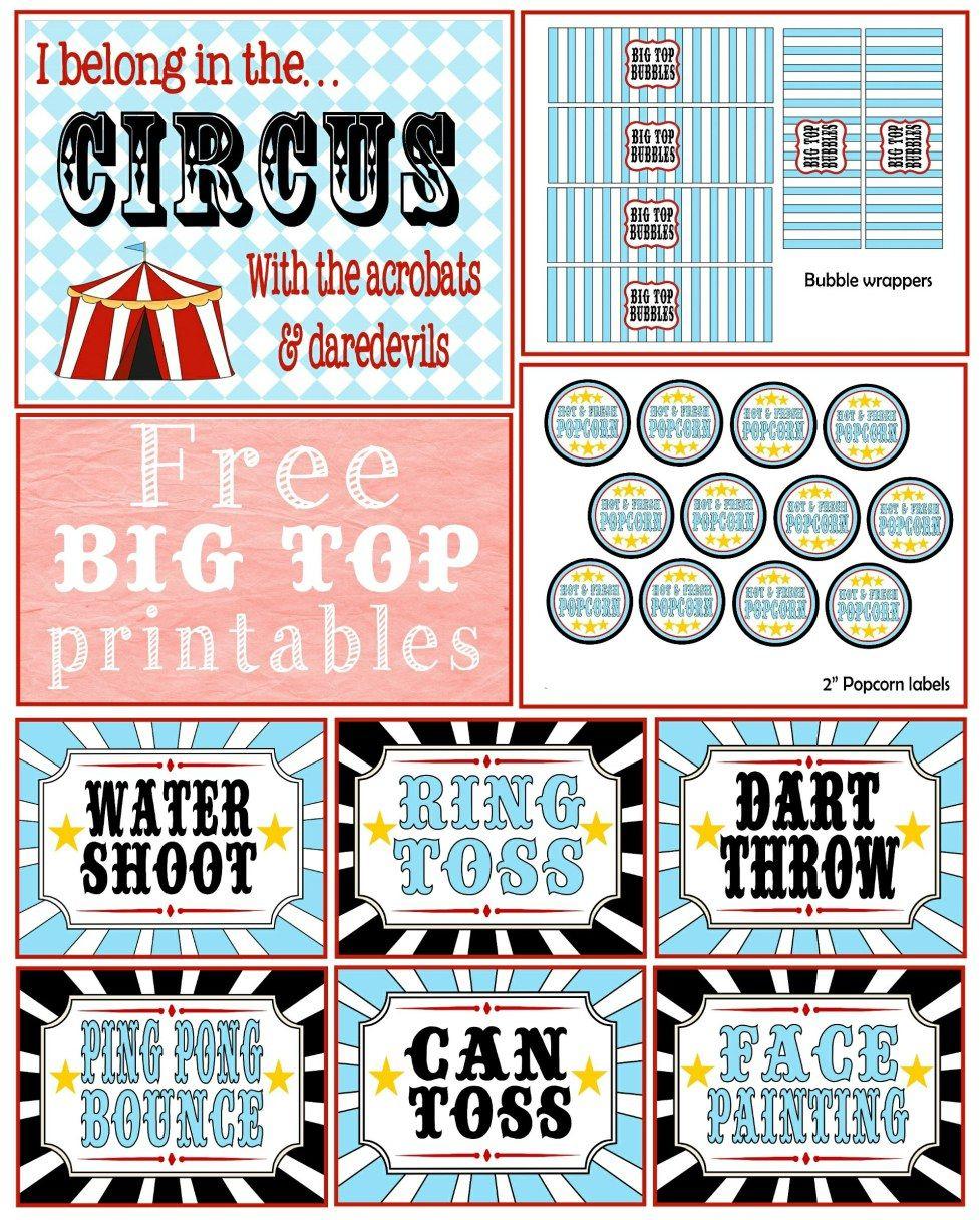 Free} Circus Printable | Circus/carnival | Pinterest | Circus Party - Free Printable Carnival Decorations