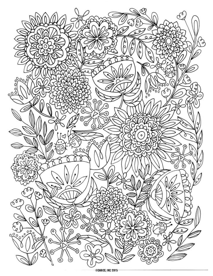 Free Printable Flower Coloring Pages For Adults