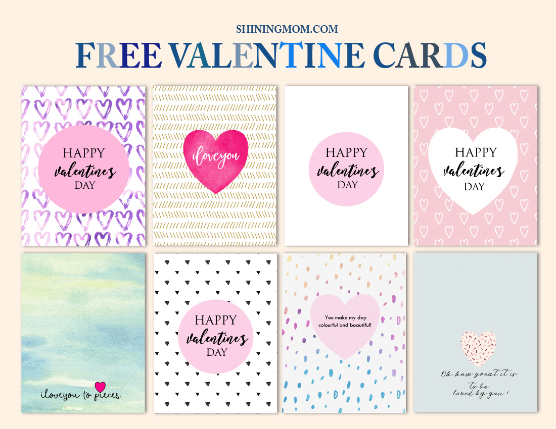 Free Cool Valentine Cards To Print: New Designs! - Free Printable Valentines Day Cards