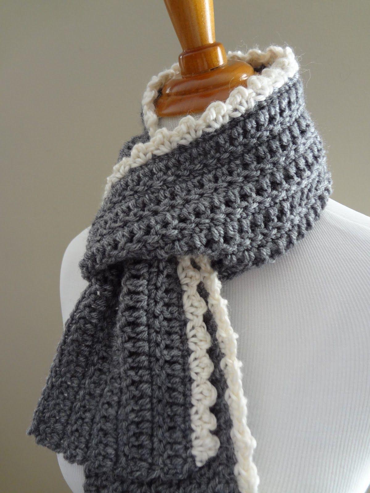 Free Crochet Patterningrid Scarf | Crochet | Pinterest | Crochet - Free Printable Crochet Scarf Patterns