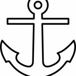 Free Cross Anchor Clipart Pertaining To Free Printable Anchor   Free Printable Anchor Template