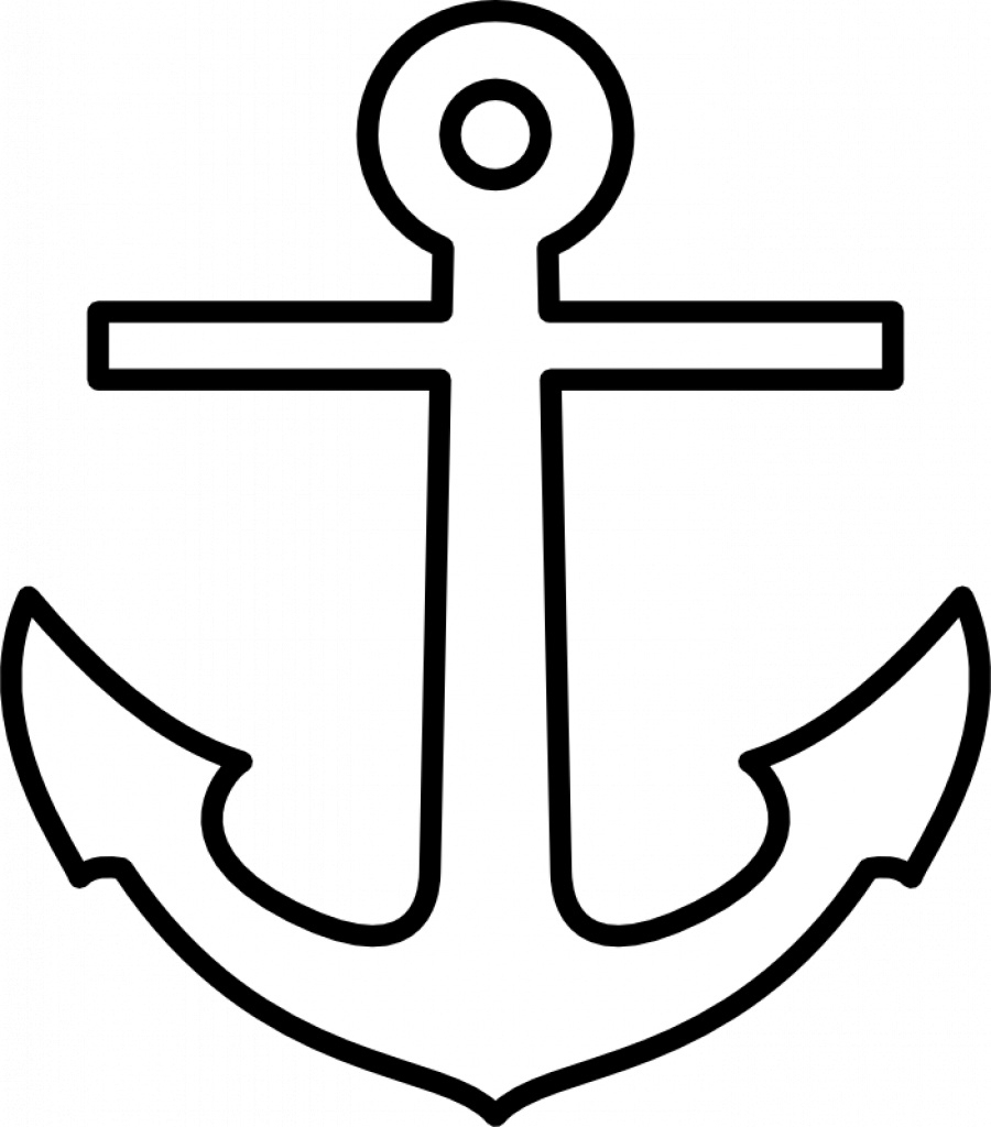 Free Cross Anchor Clipart Pertaining To Free Printable Anchor - Free Printable Anchor Template