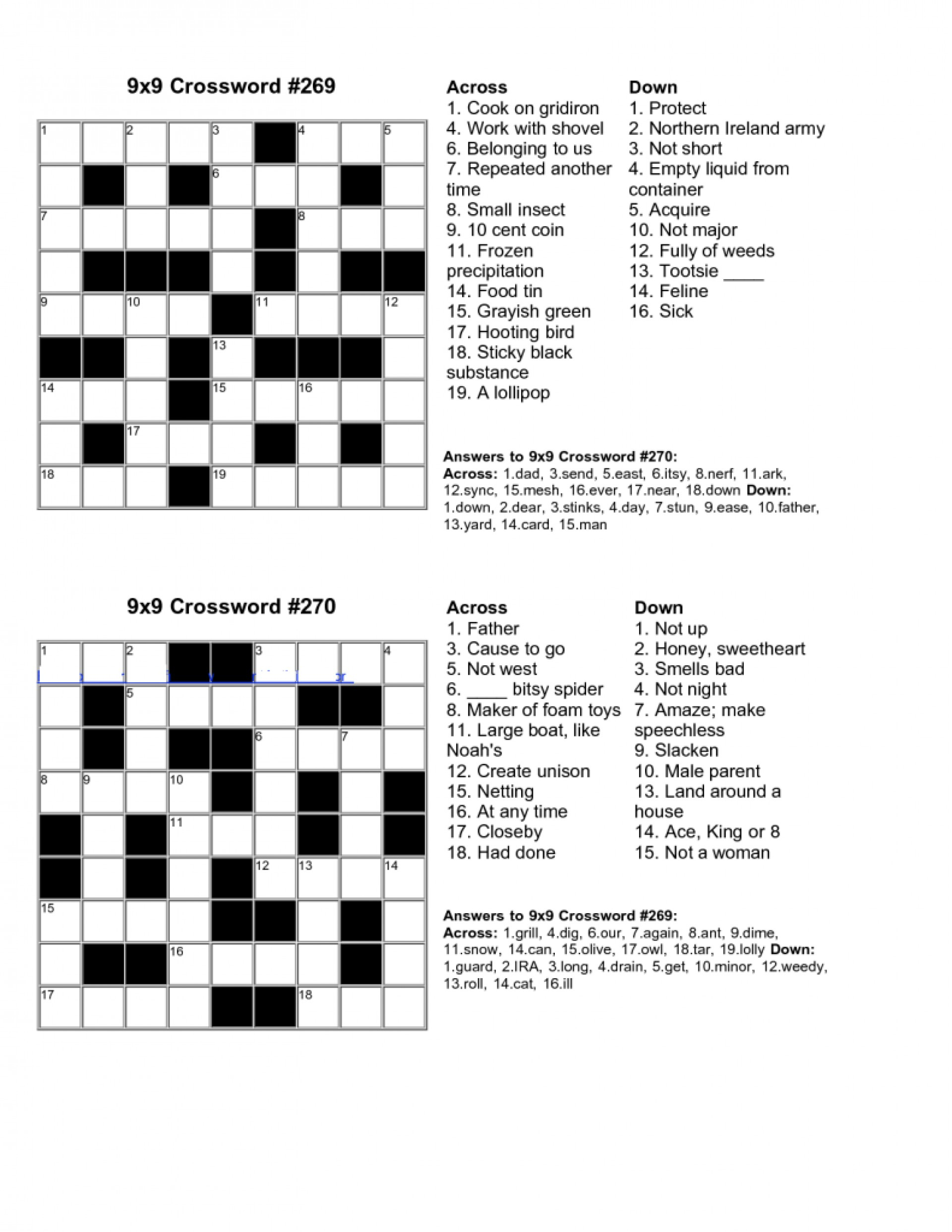 Free Crossword Puzzle Maker Printable - Stepindance.fr - Free Printable Crossword Puzzle Maker With Answer Key
