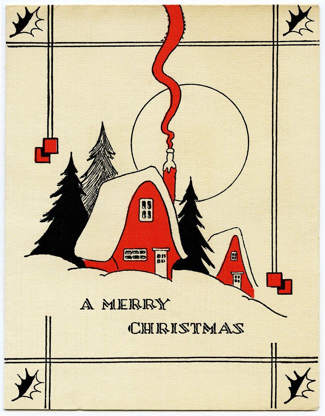 Free Digital Download, Free Printable Retro Christmas Card, Beige - Christmas Cards Download Free Printable