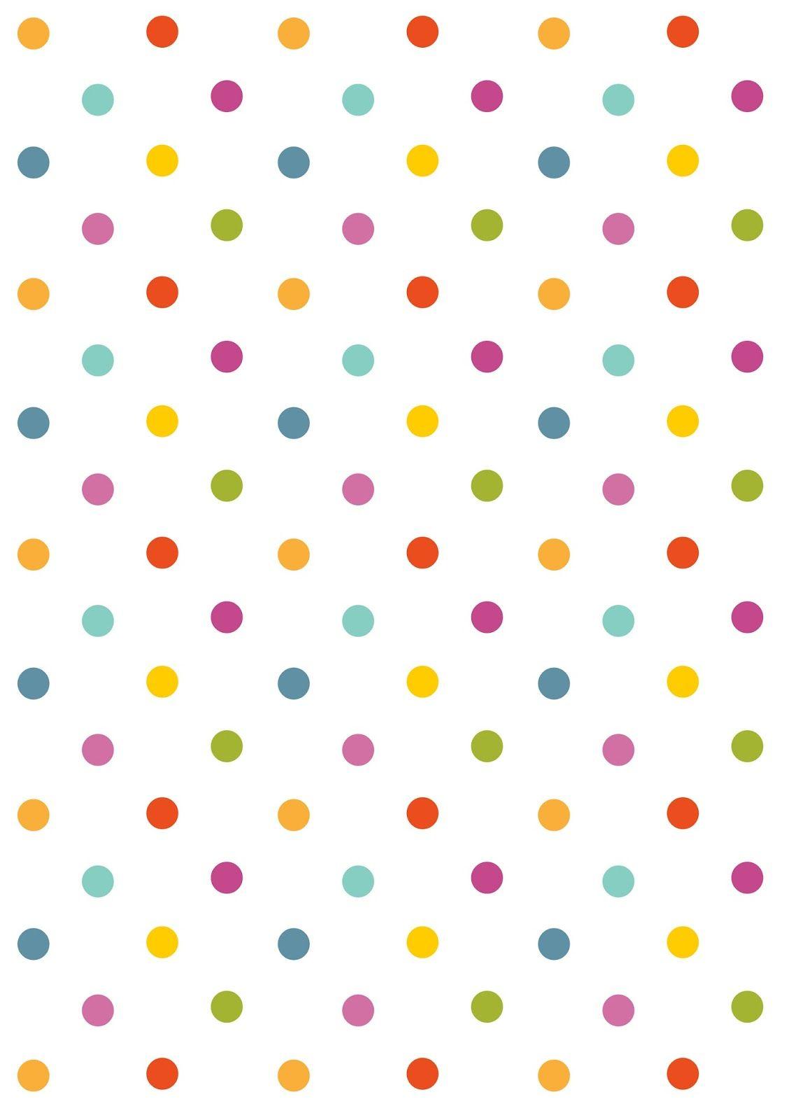 Free Digital Polka Dot Scrapbooking Paper - Ausdruckbares - Free Printable Wallpaper Patterns