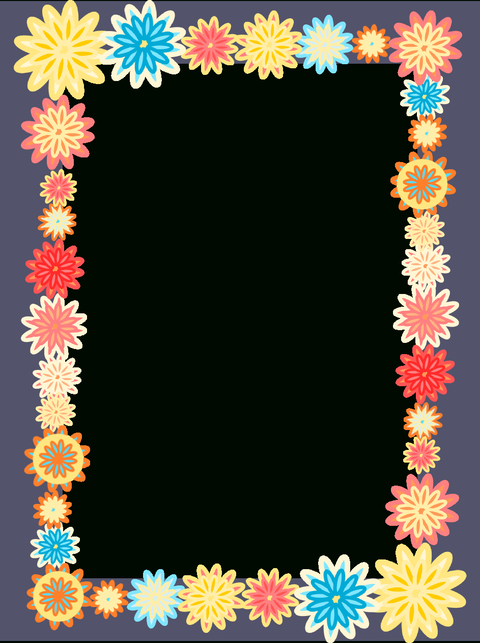 Free Digital Scrapbooking Flower Frames – Colorful Flower Frame Png - Free Printable Frames For Scrapbooking