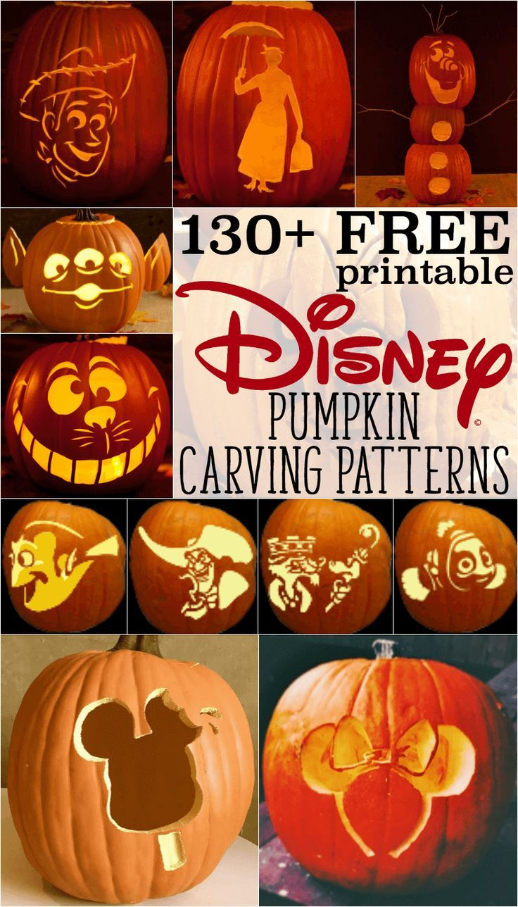 Free Disney Pumpkin Stencils: Over 130 Printable Pumpkin Carving - Free Pumpkin Carving Patterns Disney Printable