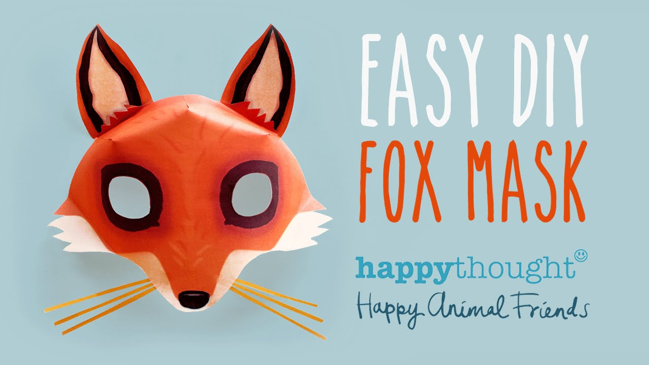 Free Diy Fox Mask Template And Tutorial: Make Your Own 3D Red Fox - Free Printable Paper Masks
