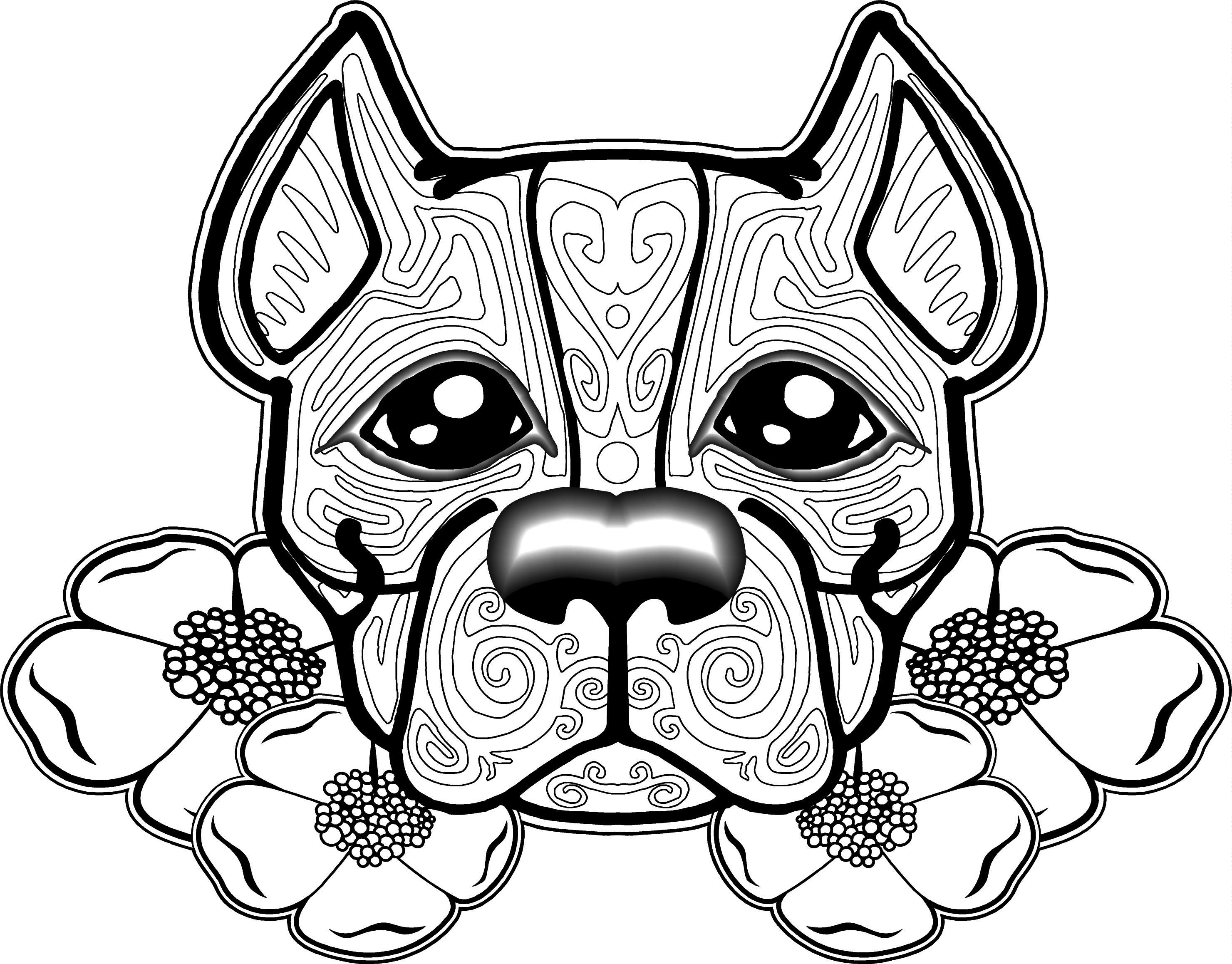 Free Dog Coloring Pages For Adults   Free Printable Coloring Pages - Colouring Pages Dogs Free Printable