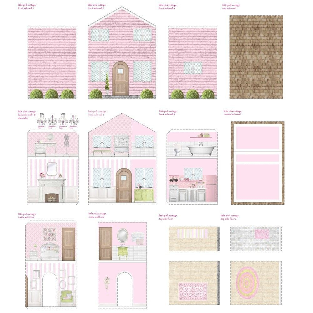 Free Dollhouse Printables   Printable Dollhouse's   Pinterest   Doll - Free Printable Dollhouse Furniture Patterns