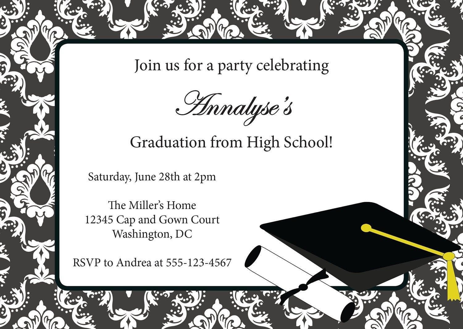Free Download College Graduation Announcements. Printable - Free Printable Graduation Invitation Templates