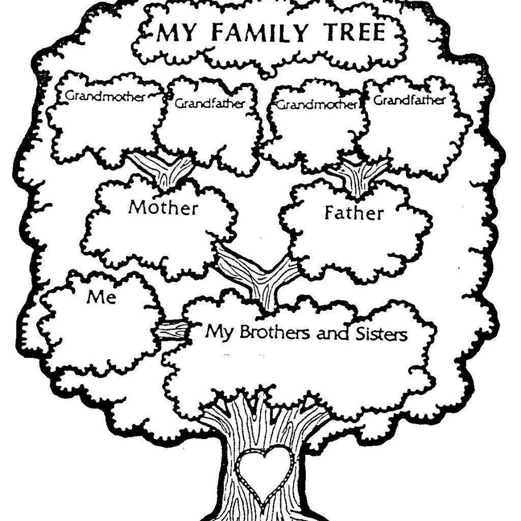 Free Download - Family Tree Coloring Page | Genealogy, Charts, Dna - My Family Tree Free Printable Worksheets