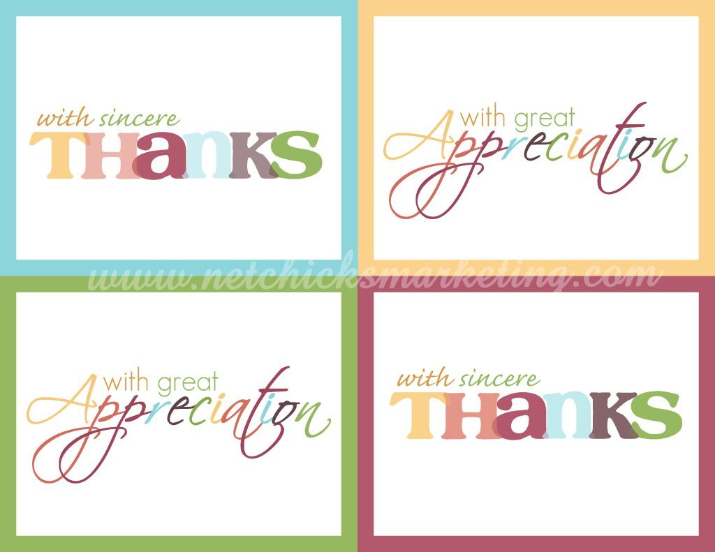 Free Download: Practice Thankfulness Postcards - Very Cute Set Of - Free Printable Custom Thank You Cards