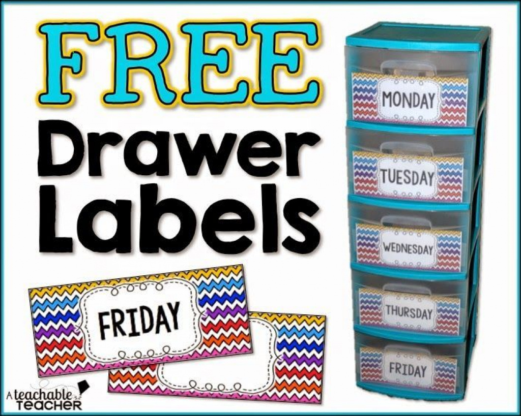 Free Drawer Labels | Back To School Activities | Pinterest | Drawer - Free Printable Classroom Tray Labels